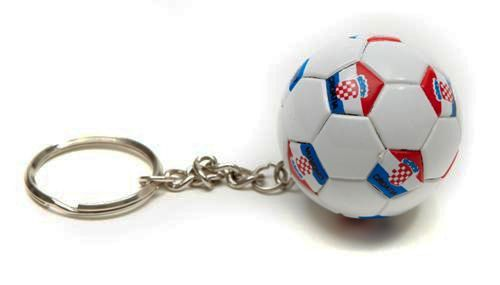 CROATIA COUNTRY FLAG FIFA SOCCER WORLD CUP BALL KEYCHAIN .. NEW AND IN A PACKAGE