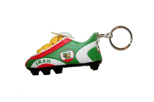 IRAN PERSIAN LION OLD SHOE CLEAT KEYCHAIN .. NEW AND IN A PACKAGE