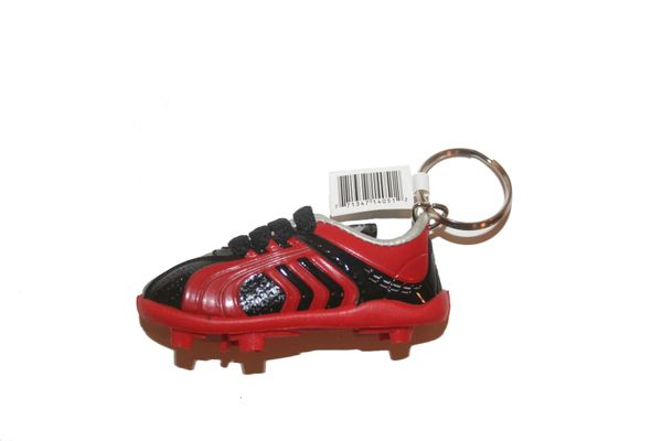BLACK RED SHOE CLEAT KEYCHAIN .. NEW AND IN A PACKAGE
