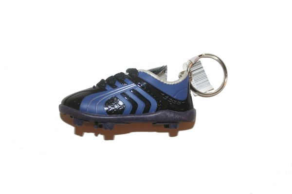 BLACK BLUE SHOE CLEAT KEYCHAIN .. NEW AND IN A PACKAGE