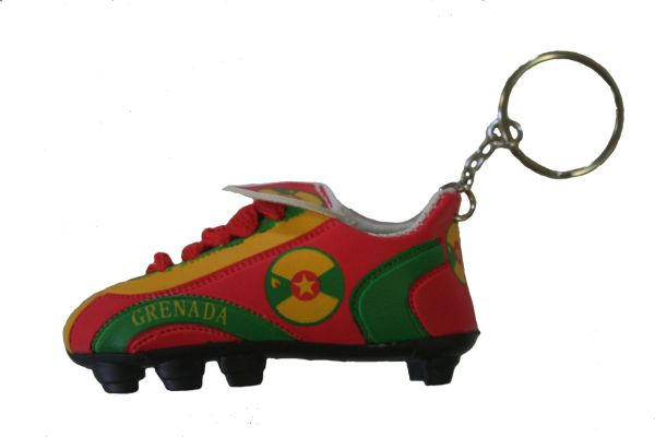 GRENADA COUNTRY FLAG SHOE CLEAT KEYCHAIN .. NEW AND IN A PACKAGE