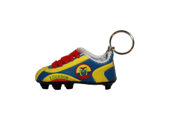 ECUADOR COUNTRY FLAG SHOE CLEAT KEYCHAIN .. NEW AND IN A PACKAGE
