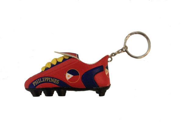 PHILIPPINES RED & BLUE COUNTRY FLAG SHOE CLEAT KEYCHAIN .. NEW AND IN A PACKAGE