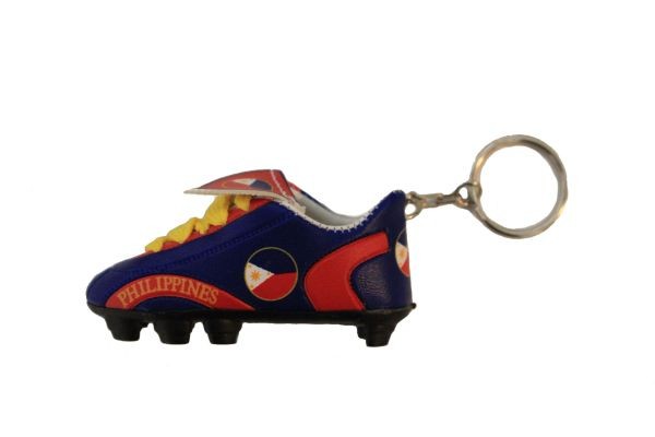 PHILIPPINES BLUE & RED COUNTRY FLAG SHOE CLEAT KEYCHAIN .. NEW AND IN A PACKAGE