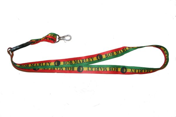 "BOB MARLEY LANYARD KEYCHAIN PASSHOLDER NECKSTRAP .. CLASP AT THE END .. 20"" INCHES LONG .. HIGH QUALITY .. NEW"