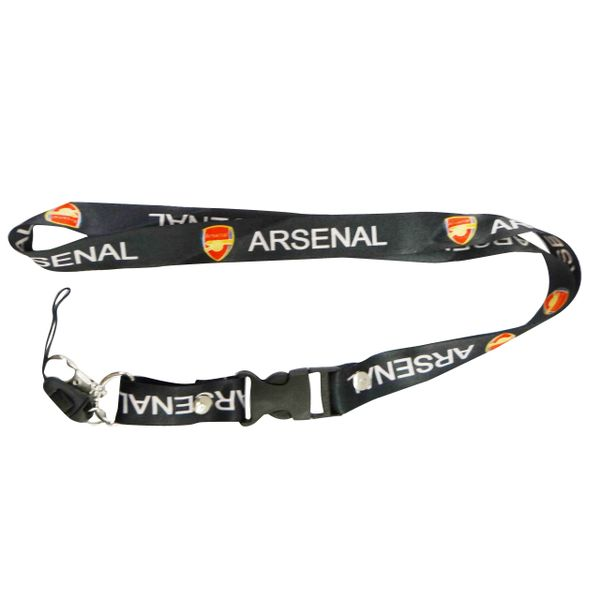 "ARSENAL LOGO FIFA SOCCER WORLD CUP LANYARD KEYCHAIN PASSHOLDER NECKSTRAP .. CLASP AT THE END .. 20"" INCHES LONG .. HIGH QUALITY .. NEW"