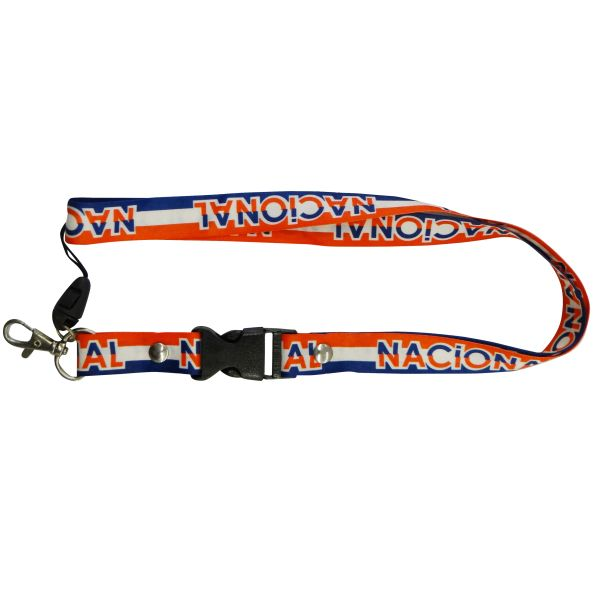 """NACIONAL"" SOCCER LANYARD KEYCHAIN PASSHOLDER NECKSTRAP .. CLASP AT THE END .. 20"" INCHES LONG .. HIGH QUALITY .. NEW"