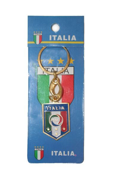 ITALIA ITALY 4 STARS FIGC LOGO FIFA SOCCER WORLD CUP METAL KEYCHAIN .. NEW AND IN A PACKAGE