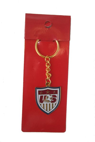 USA NATIONAL SOCCER TEAM LOGO METAL KEYCHAIN .. NEW AND IN A PACKAGE