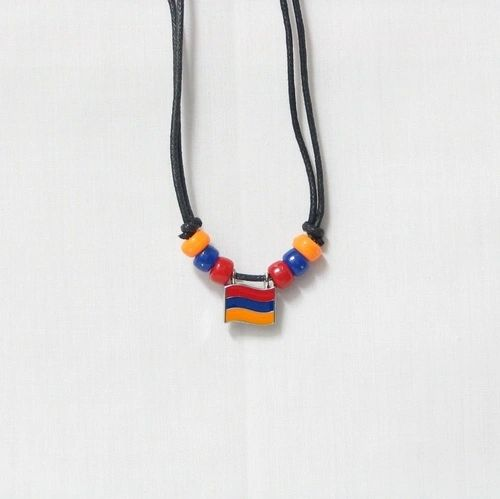 ARMENIA COUNTRY FLAG SMALL METAL NECKLACE CHOKER .. NEW AND IN A PACKAGE