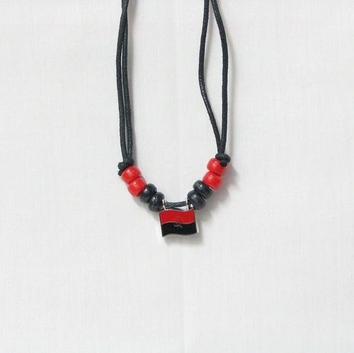 ANGOLA COUNTRY FLAG SMALL METAL NECKLACE CHOKER .. NEW AND IN A PACKAGE