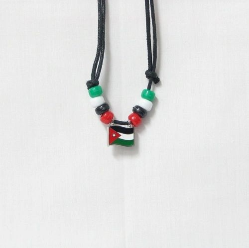 JORDAN COUNTRY FLAG SMALL METAL NECKLACE CHOKER .. NEW AND IN A PACKAGE