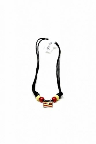 UGANDA COUNTRY FLAG SMALL METAL NECKLACE CHOKER .. NEW AND IN A PACKAGE