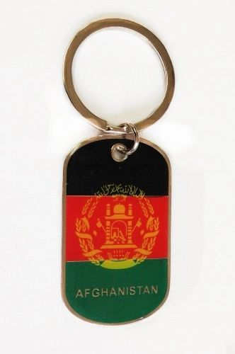 AFGHANISTAN COUNTRY FLAG Dog Tag METAL KEYCHAIN .. NEW