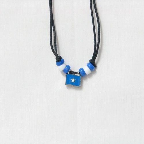 SOMALIA COUNTRY FLAG SMALL METAL NECKLACE CHOKER .. NEW AND IN A PACKAGE