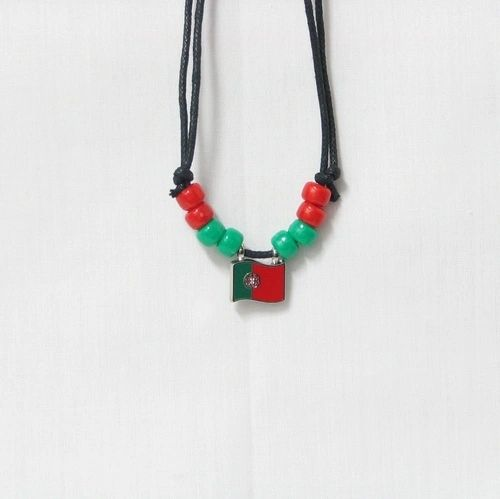 PORTUGAL COUNTRY FLAG SMALL METAL NECKLACE CHOKER .. NEW AND IN A PACKAGE