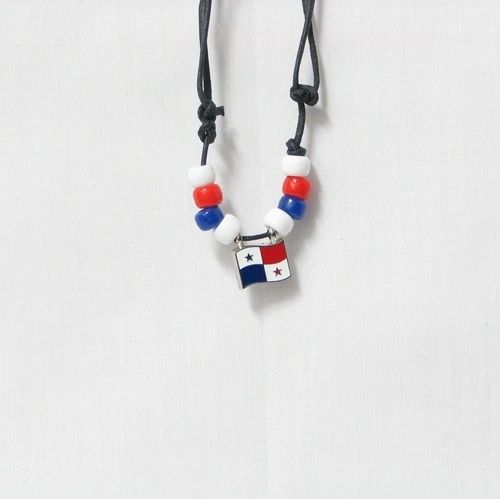PANAMA COUNTRY FLAG SMALL METAL NECKLACE CHOKER .. NEW AND IN A PACKAGE