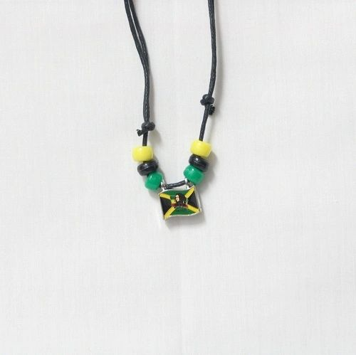 BOB MARLEY - JAMAICA SMALL METAL NECKLACE CHOKER .. NEW AND IN A PACKAGE