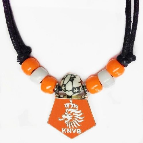 NETHERLANDS HOLLAND ORANGE KNVB LOGO FIFA SOCCER WORLD CUP METAL NECKLACE CHOKER .. NEW AND IN A PACKAGE