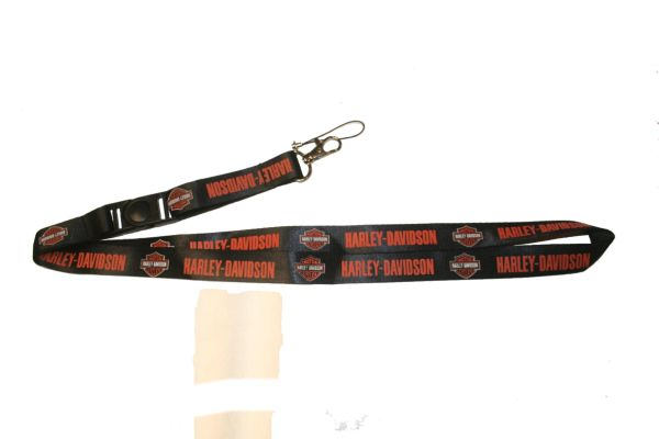 "HARLEY - DAVIDSON MOTOCYCLE MODEL LOGO LANYARD KEYCHAIN PASSHOLDER NECKSTRAP .. CLASP AT THE END .. 20"" INCHES LONG .. HIGH QUALITY .. NEW"
