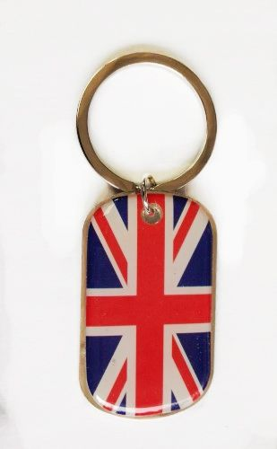 UNITED KINGDOM COUNTRY FLAG Dog Tag METAL KEYCHAIN .. NEW