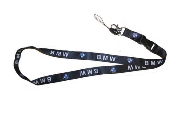 "BMW CAR MODEL LOGO LANYARD KEYCHAIN PASSHOLDER NECKSTRAP .. CLASP AT THE END .. 20"" INCHES LONG .. HIGH QUALITY .. NEW"