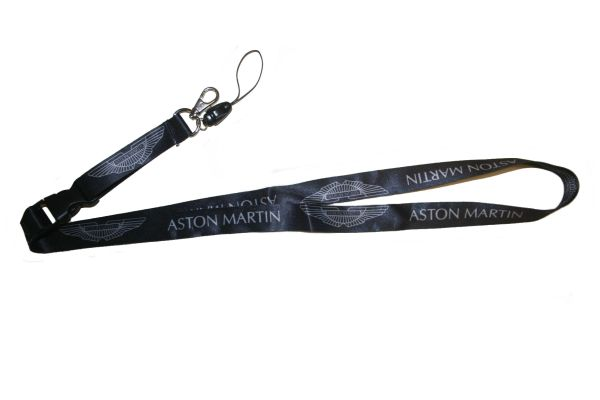 "ASTON MARTIN CAR MODEL LOGO LANYARD KEYCHAIN PASSHOLDER NECKSTRAP .. CLASP AT THE END .. 20"" INCHES LONG .. HIGH QUALITY .. NEW"