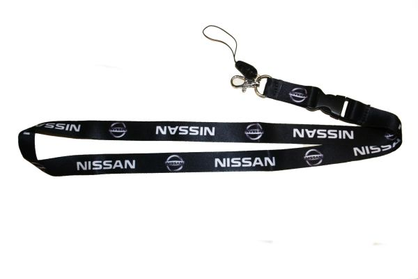 """NISSAN CAR MODEL LOGO LANYARD KEYCHAIN PASSHOLDER NECKSTRAP .. CLASP AT THE END .. 20"""" INCHES LONG .. HIGH QUALITY .. NEW"""