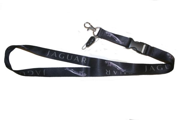 """JAGUAR CAR MODEL LOGO LANYARD KEYCHAIN PASSHOLDER NECKSTRAP .. CLASP AT THE END .. 20"""" INCHES LONG .. HIGH QUALITY .. NEW"""
