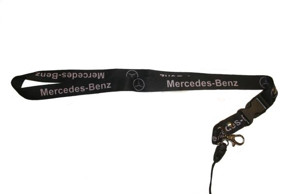 "MERCEDES - BENZ CAR MODEL LOGO LANYARD KEYCHAIN PASSHOLDER NECKSTRAP .. CLASP AT THE END .. 20"" INCHES LONG .. HIGH QUALITY .. NEW"