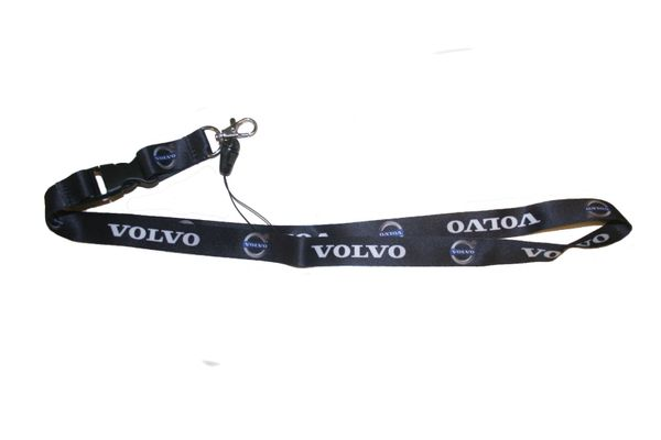 """VOLVO CAR MODEL LOGO LANYARD KEYCHAIN PASSHOLDER NECKSTRAP .. CLASP AT THE END .. 20"""" INCHES LONG .. HIGH QUALITY .. NEW"""