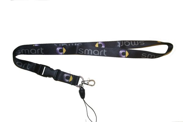 "SMART CAR MODEL LOGO LANYARD KEYCHAIN PASSHOLDER NECKSTRAP .. CLASP AT THE END .. 20"" INCHES LONG .. HIGH QUALITY .. NEW"