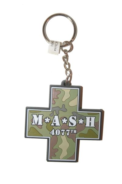 M * A * S * H 4077TH TV SHOW CROSS SILICONE KEYCHAIN .. NEW AND IN A PACKAGE