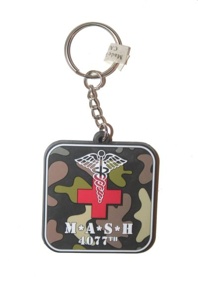 M * A * S * H 4077TH TV SHOW SILICONE KEYCHAIN .. NEW AND IN A PACKAGE