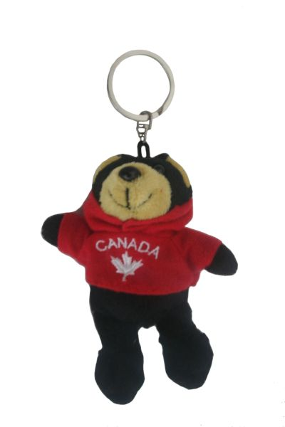 "CANADA BEAR PLUSH TOY KEYCHAIN .. SIZE : 4 1/2"" INCHES .. NEW AND IN A PACKAGE"