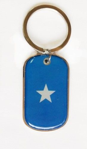 SOMALIA COUNTRY FLAG METAL KEYCHAIN .. NEW AND IN A PACKAGE