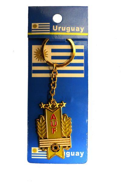 URUGUAY AUF Logo FIFA WORLD Cup Metal KEYCHAIN