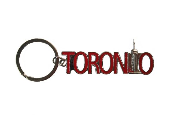 TORONTO Cut-Out Lettering With CN TOWER Metal KEYCHAIN