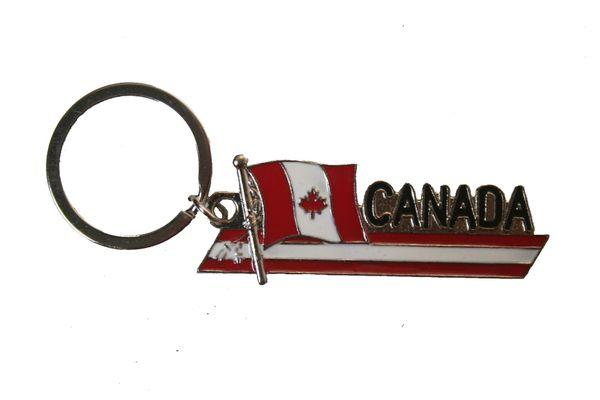 CANADA Country Flag SIDEKICK WORD Metal KEYCHAIN