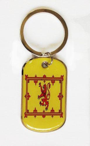 SCOTLAND RAMPANT LION COUNTRY FLAG Dog Tag METAL KEYCHAIN .. NEW
