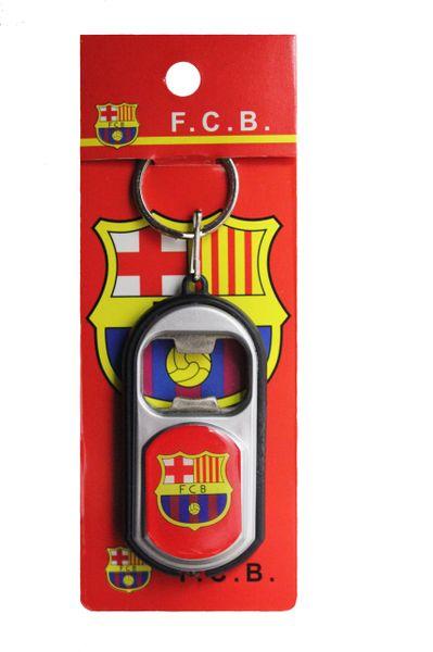 BARCELONA FCB Logo LED LIGHT & BOTTLE OPENER METAL KEYCHAIN
