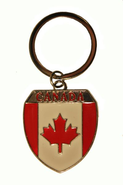CANADA ,SHIELD Shape Metal KEYCHAIN.... NEW