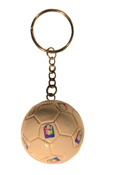 ITALIA FIGC SMALL 4 Stars Logo Soccer BALL KEYCHAIN