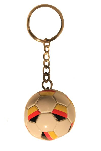GERMANY Country Flag Soccer BALL KEYCHAIN