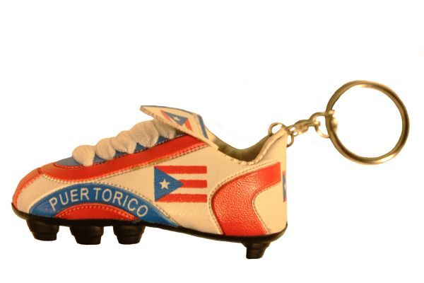 PUERTO RICO Country Flag SHOE CLEAT KEYCHAIN