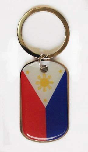 PHILIPPINES COUNTRY FLAG Dog Tag METAL KEYCHAIN .. NEW