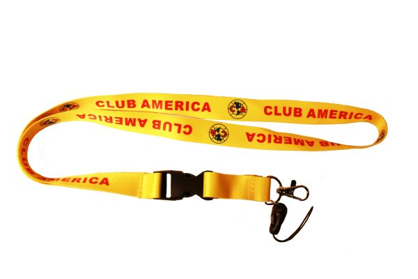 CLUB AMERICA ( Mexico ) Soccer Logo LANYARD KEYCHAIN PASSHOLDER NECKSTRAP CLASP At The End