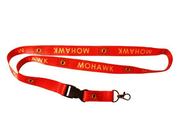 MOHAWK OKA Native Flag RED LANYARD KEYCHAIN PASSHOLDER NECKSTRAP