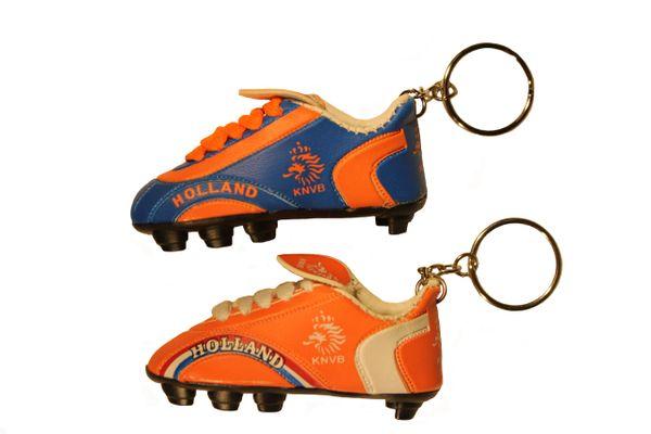 HOLLAND NETHERLANDS BLUE & ORANGE ( Set ) , KNVB Logo Soccer SHOE CLEAT KEYCHAINS