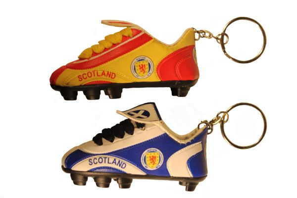 SCOTLAND Red - Yellow & Blue - White ( Set ) , LION RAMPANT Flag Logo Soccer SHOE CLEAT KEYCHAINS